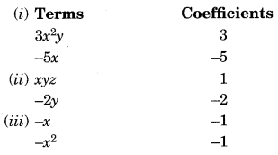 Algebraic Expressions and Identities NCERT Extra Questions for Class 8 Maths Q3