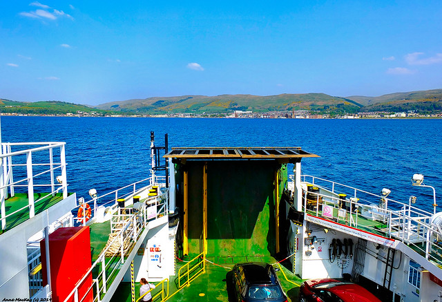 Scotland West Coast the car ferry Loch Shira nearing Largs 22 April 2019 by Anne MacKay