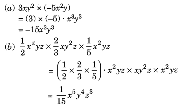 Algebraic Expressions and Identities NCERT Extra Questions for Class 8 Maths Q8