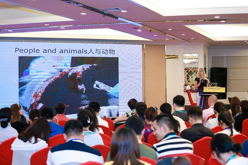 Jill Robinson MBE, Founder & CEO Animals Asia presenting