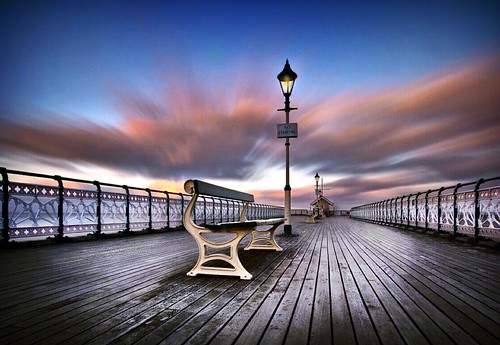 scenery landscape nikon sky drama cardiff wales british seaside longexposure movingclouds woodenseat clouds southwales pier penarth penarthpier