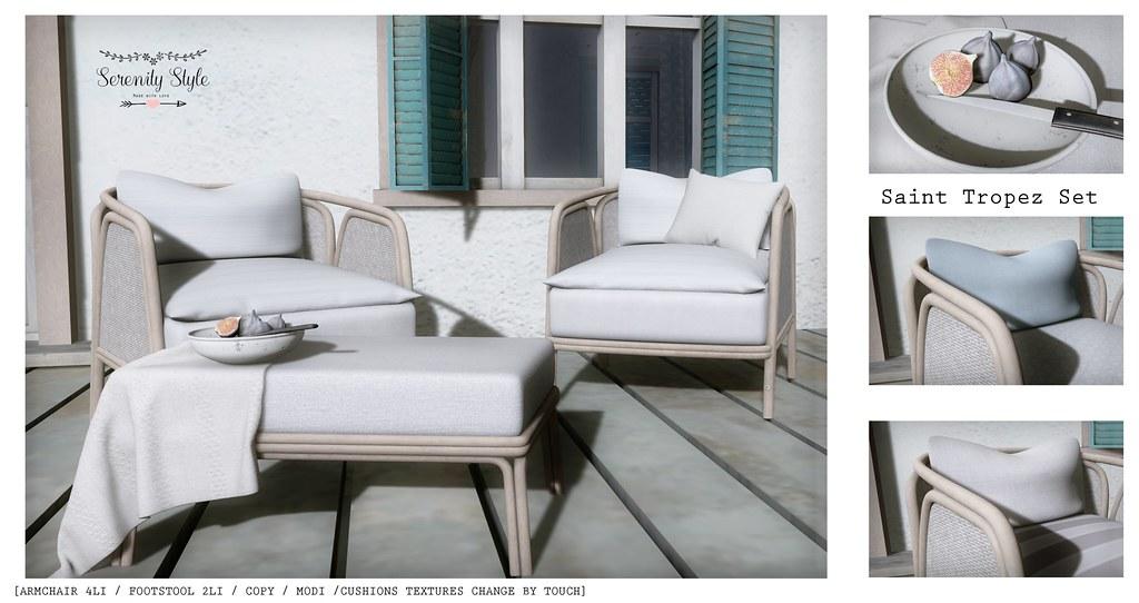 Serenity Style- Saint Tropez Advert