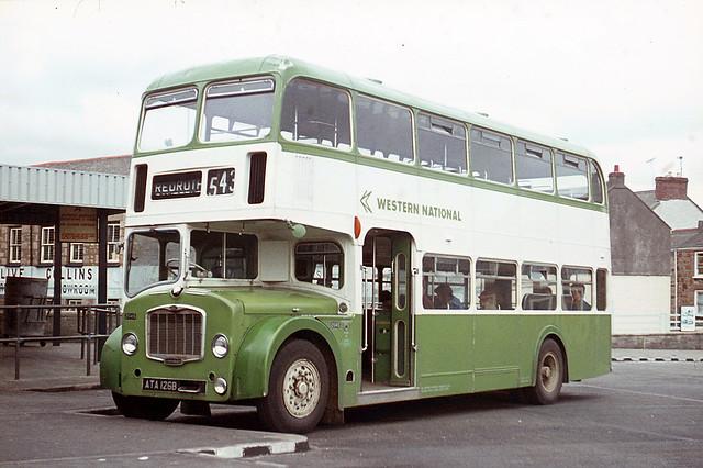 Western National Omnibus Company . 2045 ATA126B . Camborne Bus Station , Cornwall . November-1975 .