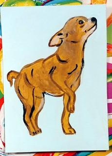 Painted dog ATC