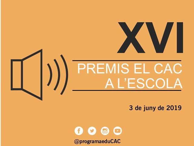 XVI Premis el CAC a l'escola