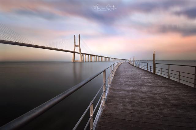 Sunset at Vasco da Gama bridge