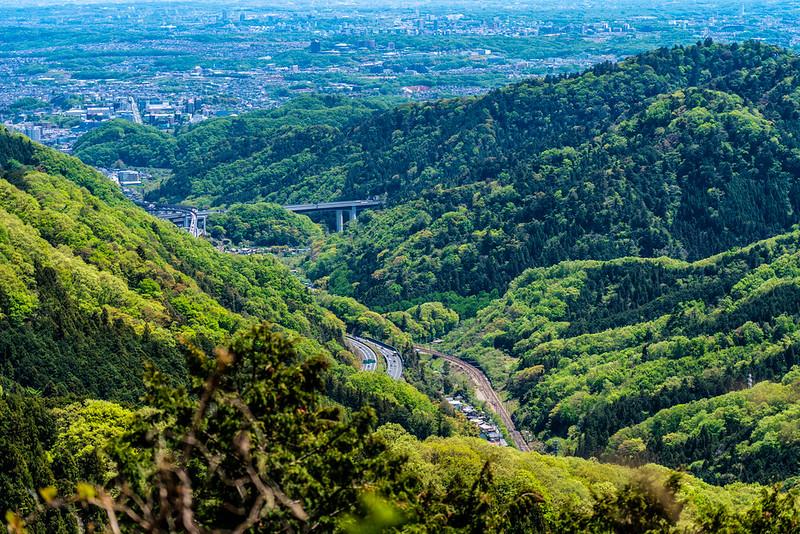 高尾山から中央道