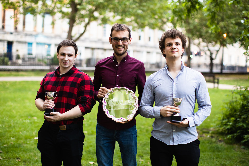 A picture of Rob Edinburgh and the Bath 3MT runner ups