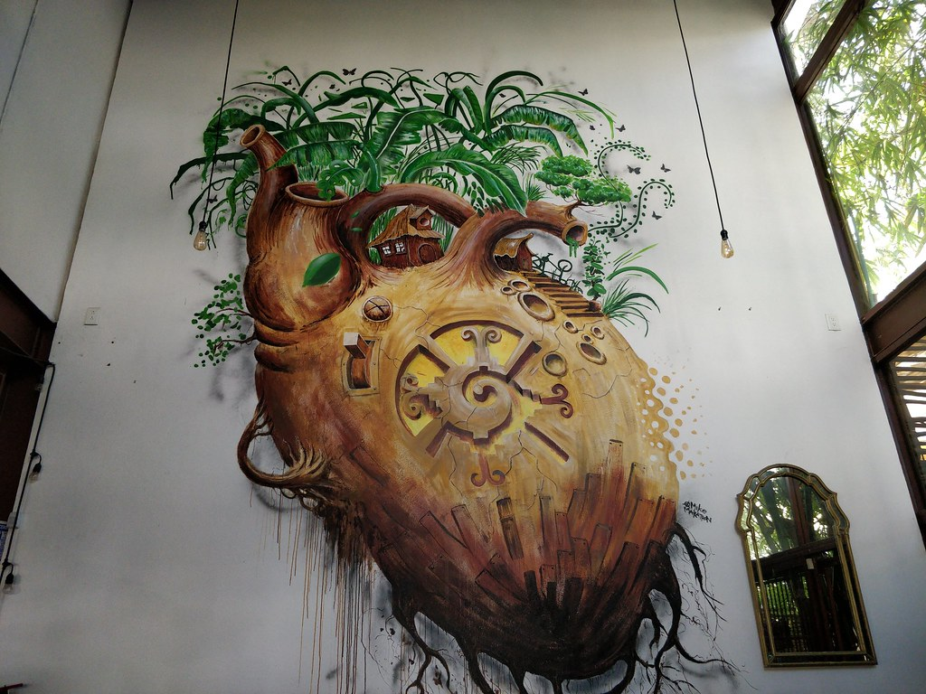 Street art at choux choux cafe