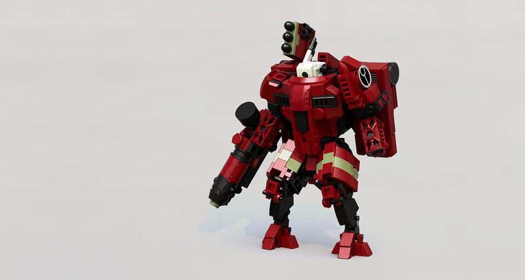 Iridium-class XV8-02 Crisis Battlesuit (custom built Lego model)