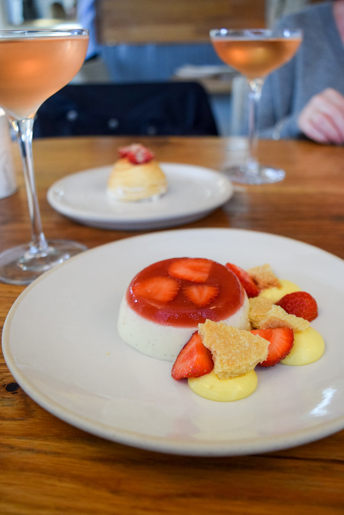 Strawberry and Vanilla Cream at Fish Kitchen, Port Isaac