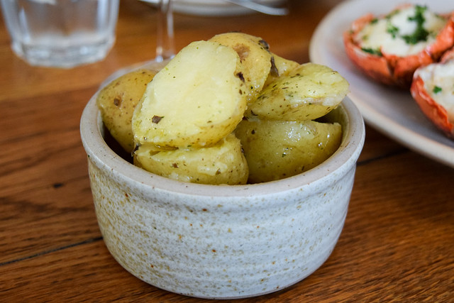 Seaweed Butter Potatoes at Fish Kitchen, Port Isaac