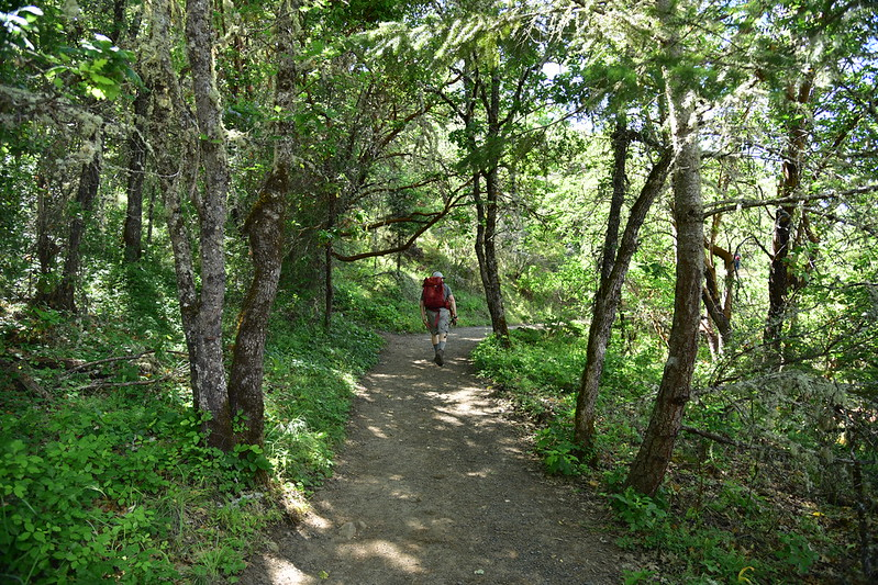 Hiking up Upper Table Rock
