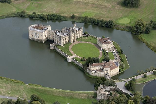 Leeds Castle aerial image