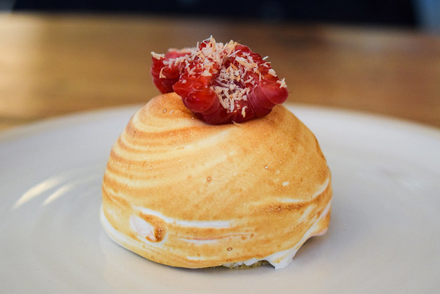 Coconut Raspberry Baked Alaska at Fish Kitchen, Port Isaac