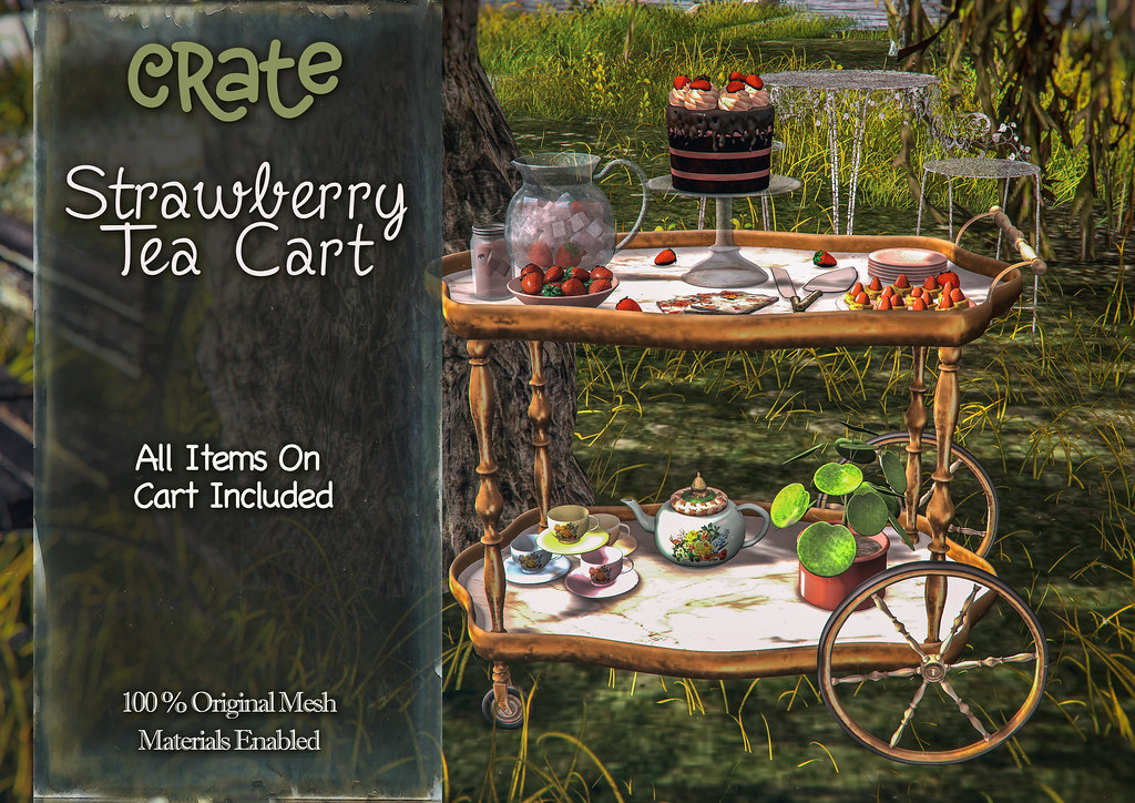 crate's Strawberry Tea Cart for Belle - TeleportHub.com Live!