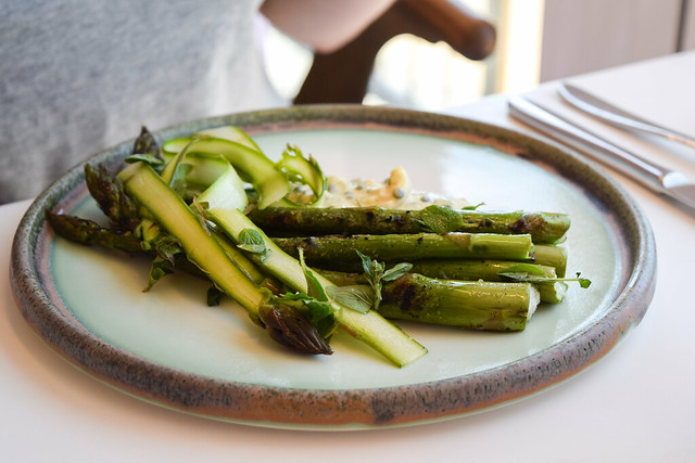 English Asparagus with Egg Sauce at Fifteen, Cornwall