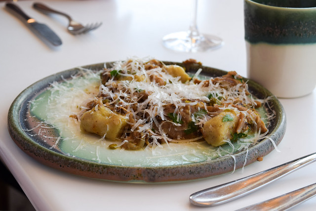 Slow Cooked Pork Gnocchi at Fifteen, Cornwall