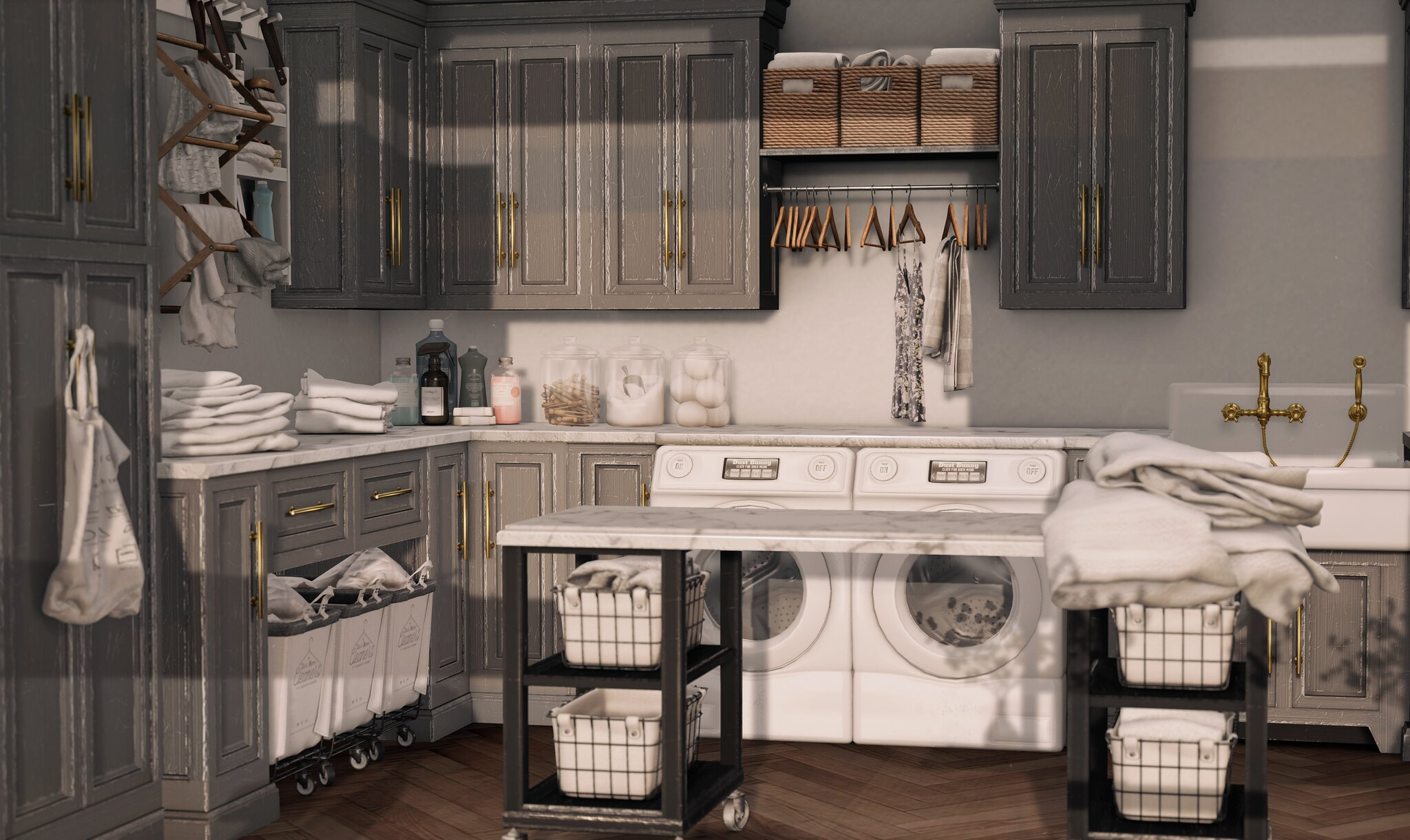 Glamorous Furniture// Laundry Room by Dust Bunny