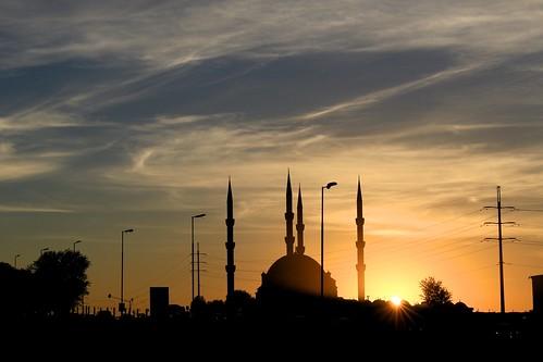 sunrise alba dawn mosque midrand gauteng southafrica johannesburg turkish nizamiyemosque nizamiye