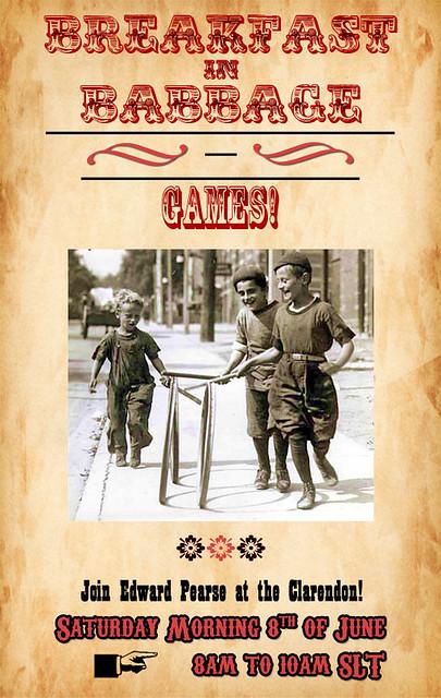 Breakfast in Babbage: Games