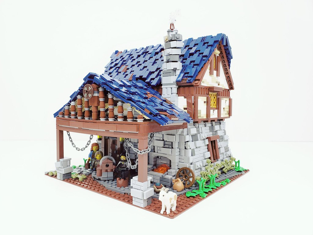 Medieval Blacksmith Shop (custom built Lego model)
