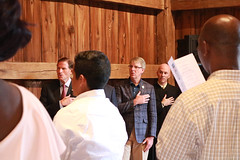 Rep. Ackert participates in a Naturalization Ceremony held at the Nathan Hale Homestead on 'Nathan Hale Day'