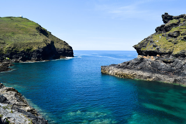 View Out Of Boscastle Harbour, North Cornwall