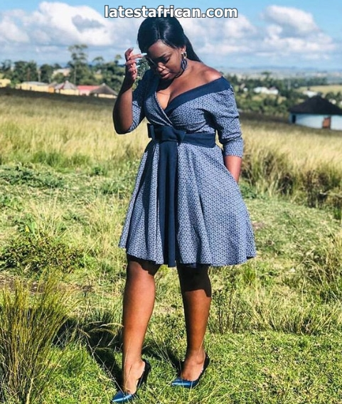 Recent shweshwe dress patterns
