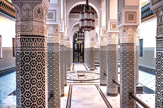 Courtyard at La Mamounia Hotel, Marrakesh (Morocco)