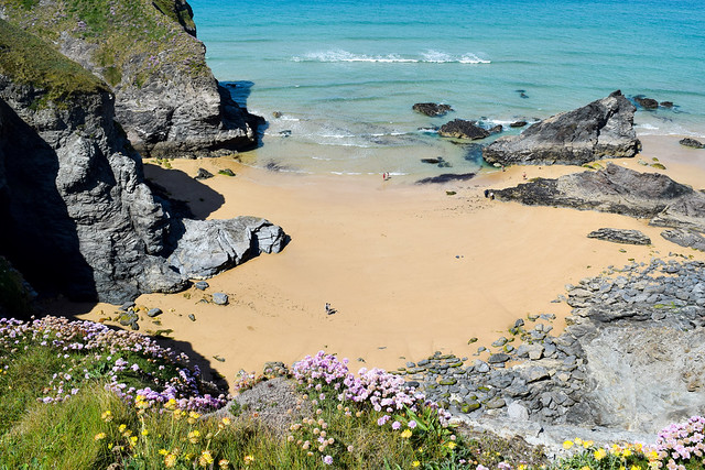 Beach Below the Bedruthan Steps, North Cornwall