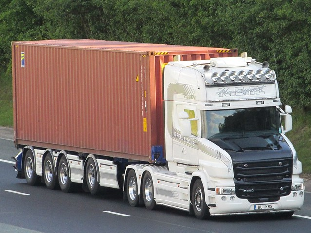 K.E.R. Transport, Scania T580 On The A1M Northbound (BU11KRS)