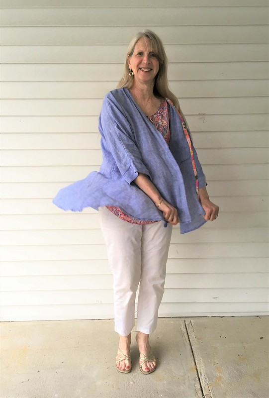 A Spring Jacket in Irish Linen:  Simplicity 8172