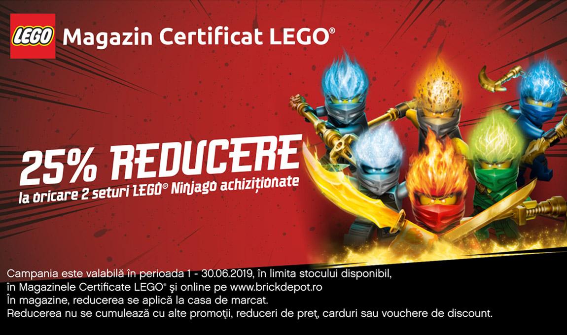 25% reducere la oricare 2 seturi LEGO® Ninjago
