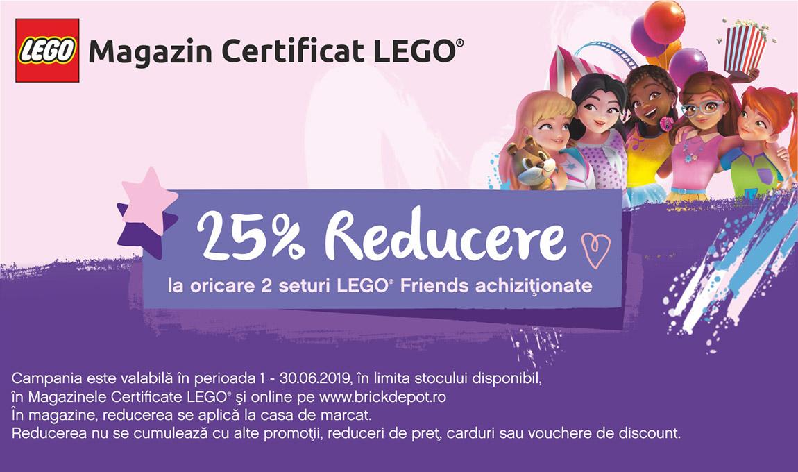 25% reducere la oricare 2 seturi LEGO® Friends