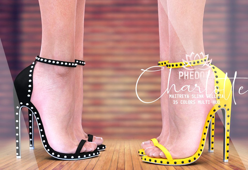 "Phedora. for Belle. Events – ""Charlotte"" studded heels ♥"