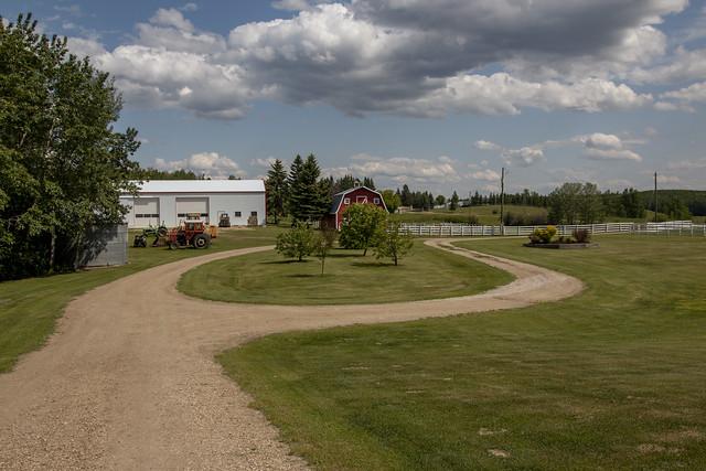 Farm Yard outside Edmonton, Alberta