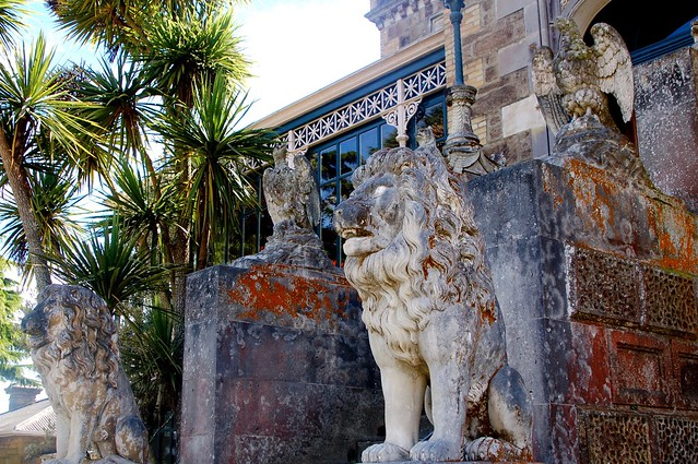 Lions at Larnach Castle, Dunedin NZ