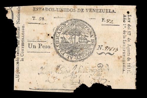 1811 Venezuela 1 Peso