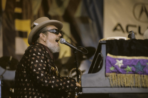 Dr. John at Jazz Fest 2001. Photo by Leon Morris.