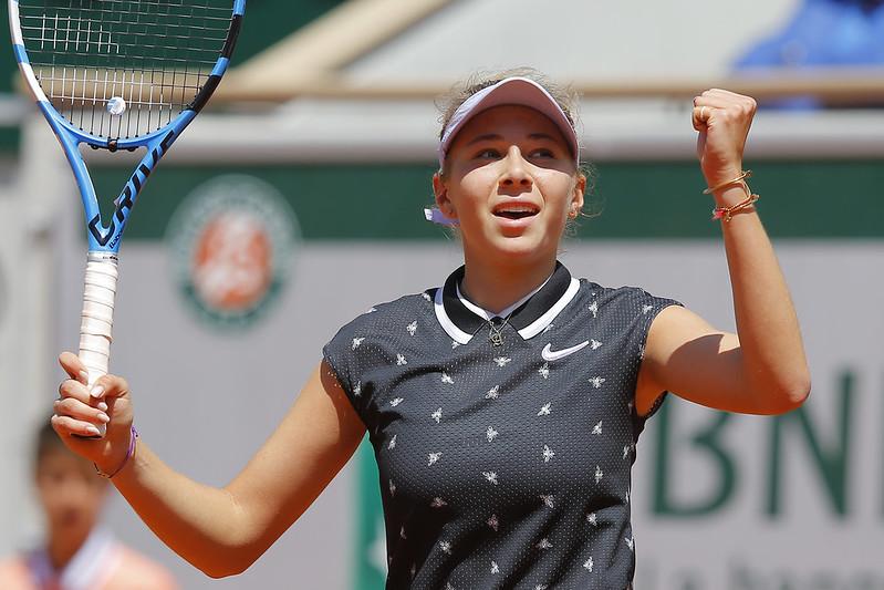 年僅17歲的Amanda Anisimova繼續上演驚奇。(達志影像)