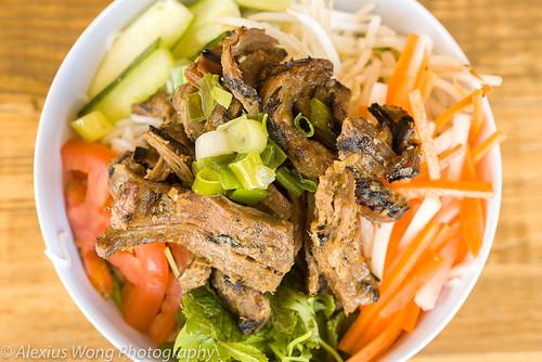 Grilled Lemongrass Beef Bun Noodle Salad