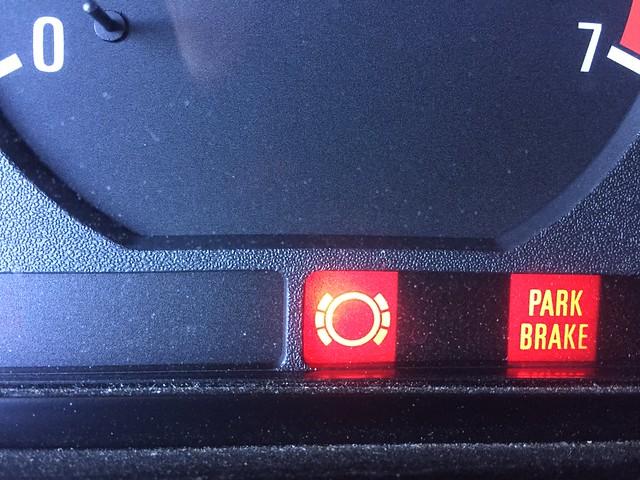 Brake wear warning.