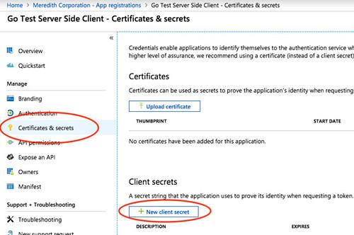 Azure Active Directory Secrets