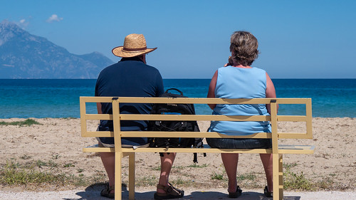 Bench with a view - Mount Athos