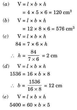 Mensuration NCERT Extra Questions for Class 8 Maths Q12.1