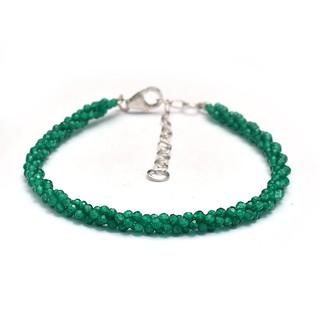 Finest Green Onyx Dainty Beaded Bracelet