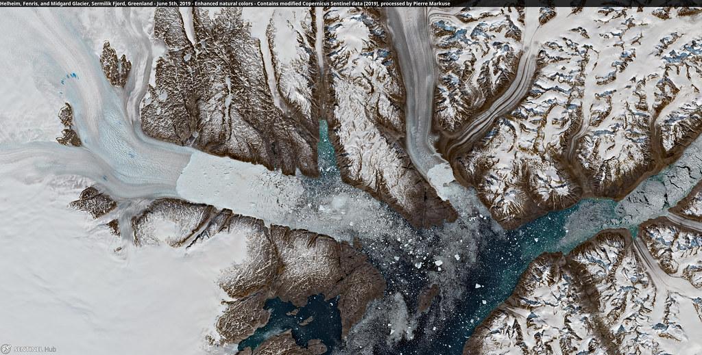 Helheim, Fenris, and Midgard Glacier, Sermilik Fjord, Greenland - June 5th, 2019