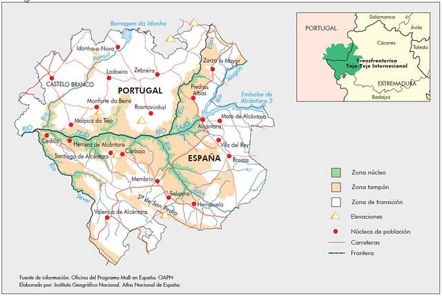Mapa del Parque Natural Tajo Internacional