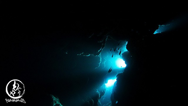 もう一本洞窟探検♪ 光が射してキレイだったなぁ♪